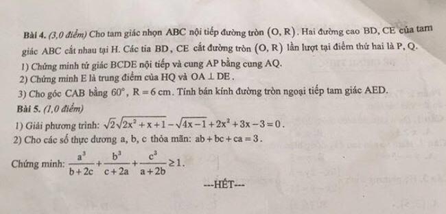 Đề thi Toán vào 10 THPT tỉnh Nam Định 2020-2021 có đáp án-1