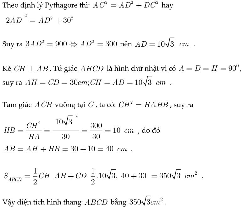 Hướng dẫn giải bài tập hệ thức lượng trong tam giác vuông-5
