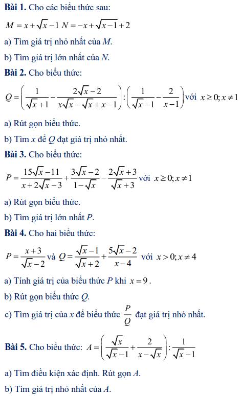 Các dạng toán rút gọn biểu thức lớp 9-4