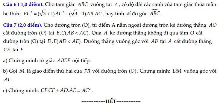 Đề thi vào 10 môn Toán tỉnh Lào Cai 2021-2022 có đáp án